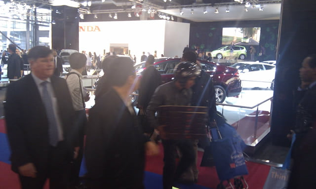 Pizza boy at Paris Motor Show 2010