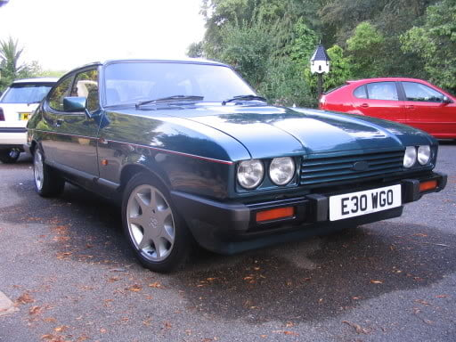 Green Ford Capri 280