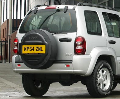 Jeep Cherokee KJ rear number plate on PetrolBlog