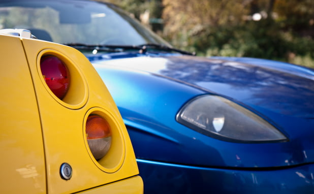 Rear light cluster Fiat Coupé and front light of Barchetta