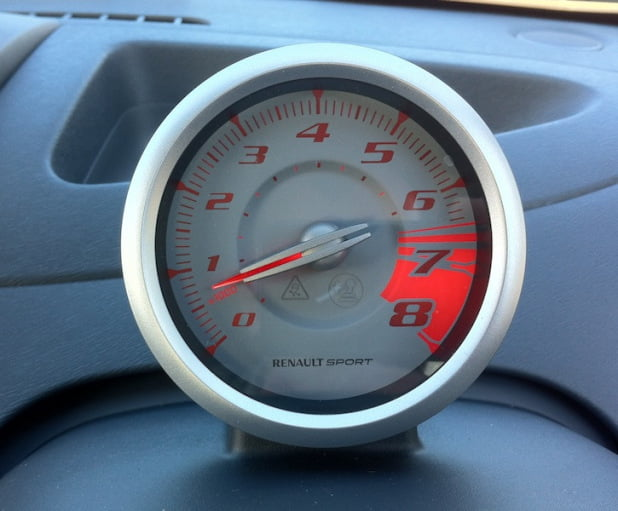 Renaultsport Twingo 133 Silverstone GP rev counter