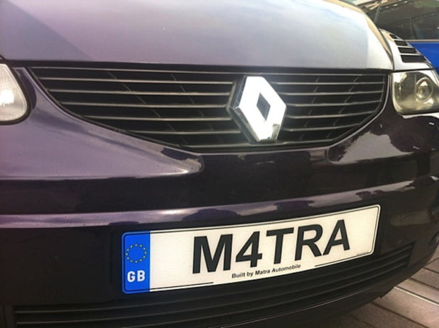 Renault Avantime on PetrolBlog M4TRA number plate