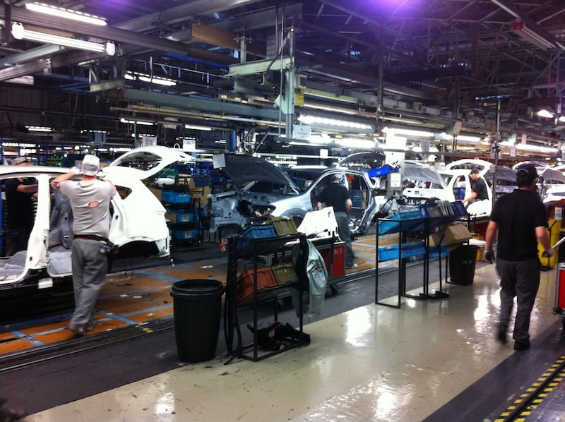 The Nissan Qashqai production line in Sunderland