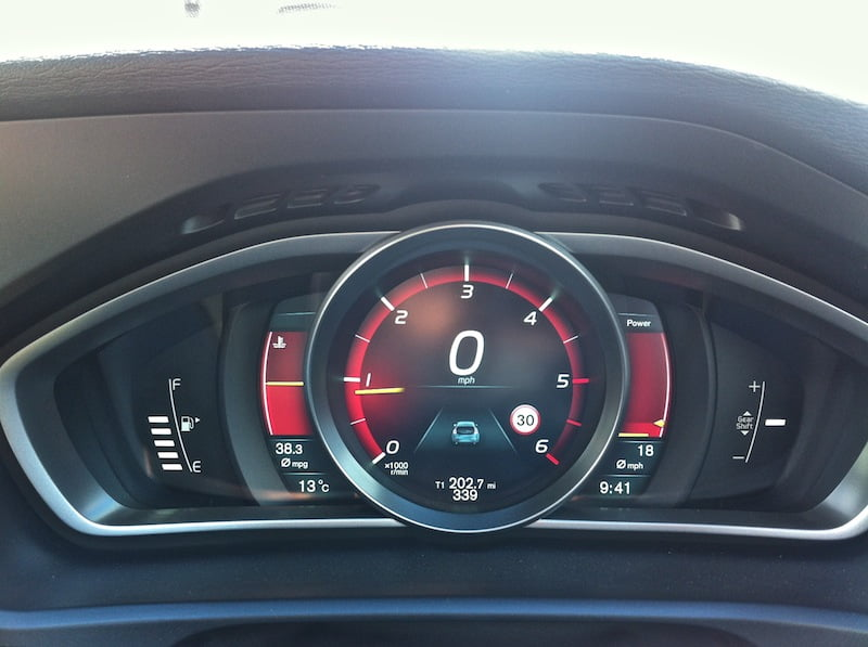 Performance mode in the Volvo V40
