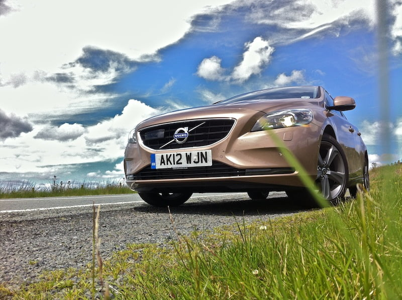 Volvo V40 on a rare sunny day in North Wales