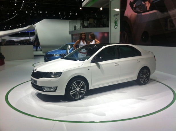 New Skoda Rapid – part of PetrolBlog's Paris Unconventional