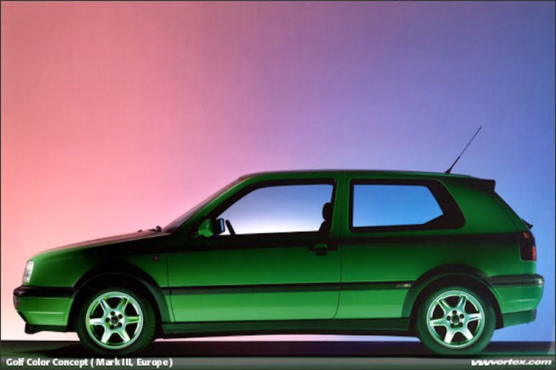 vw golf colour concept salsa green