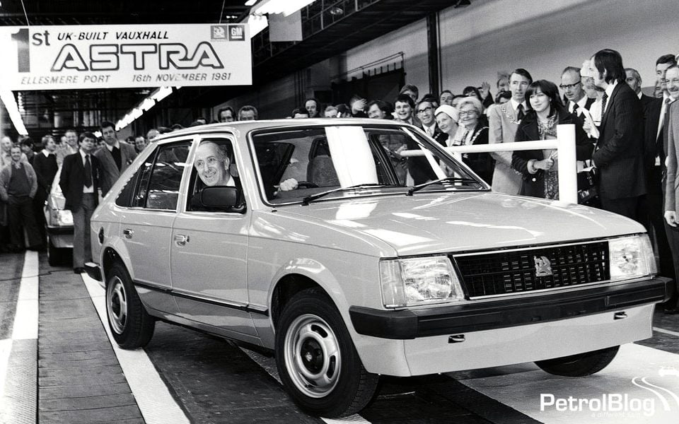 The first UK-built Vauxhall Astra