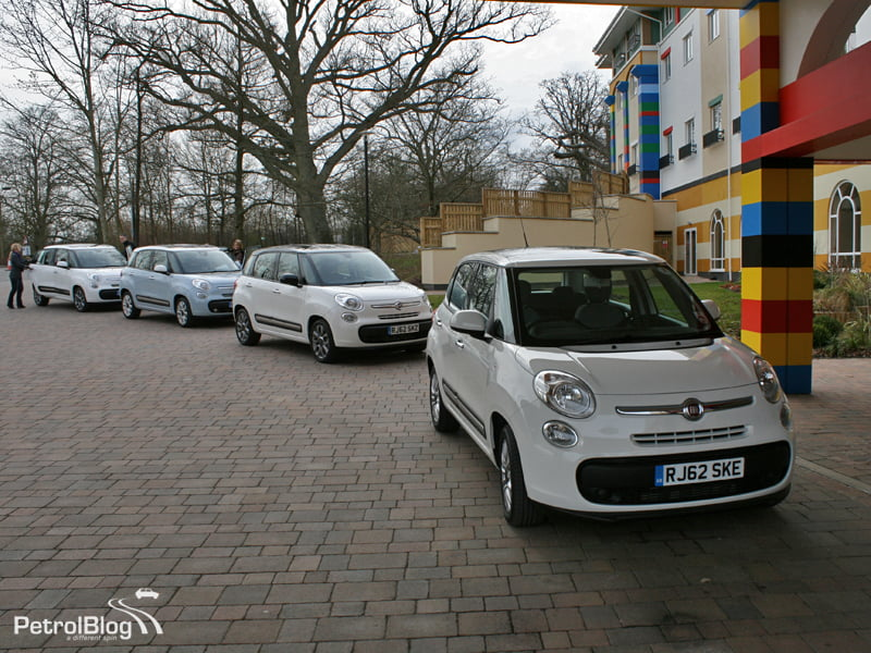 Fiat 500L line-up at Legoland, Windsor