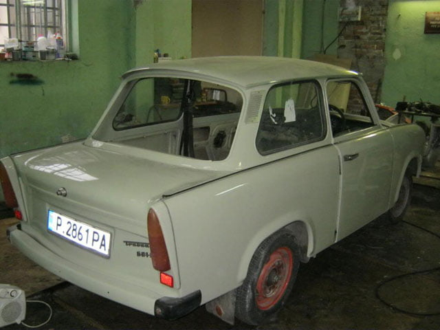 Rear of right-hand drive Trabant 601