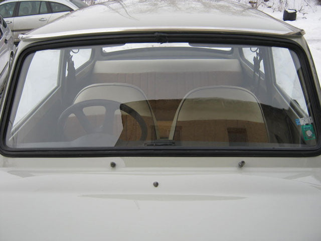 Right-hand drive Trabant 601 windscreen