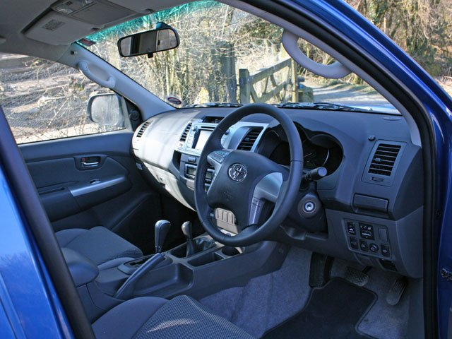 Interior of Toyota Hilux Invincible