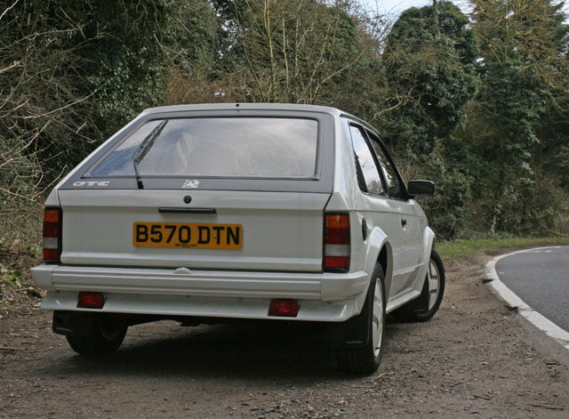 Rear of MK1 Vauxhall Astra GTE