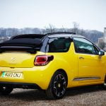Corned Beef: Citroën DS3 Cabrio at the rear