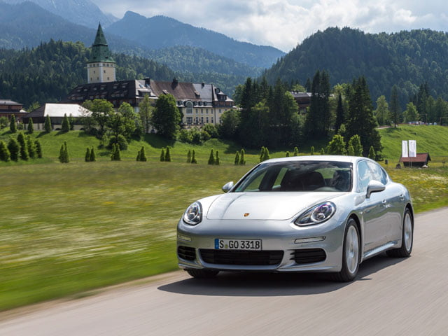 Porsche Panamera S E-Hybrid on the road in Germany