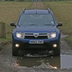 Front of Dacia Duster Ambiance in Caspian Blue
