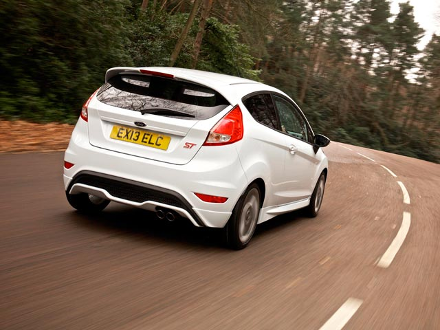Rear of Ford Fiesta ST on the road