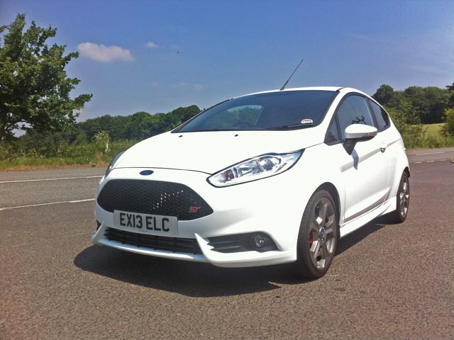 Ford Fiesta ST in the sun