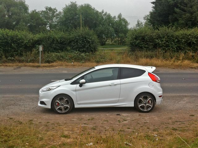 Side view of Ford Fiesta ST