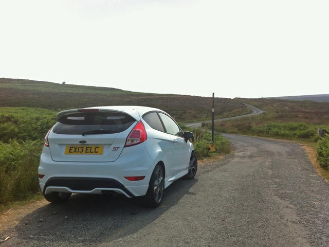 Ford Fiesta ST on review in North Wales
