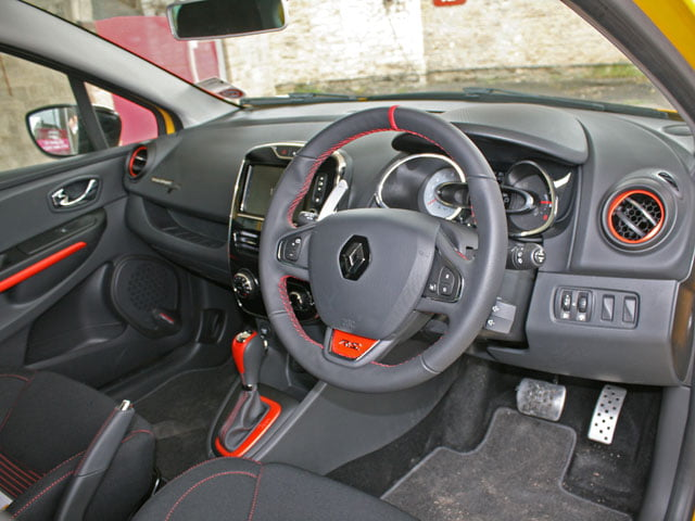 Interior of Renaultsport Clio 200 Turbo