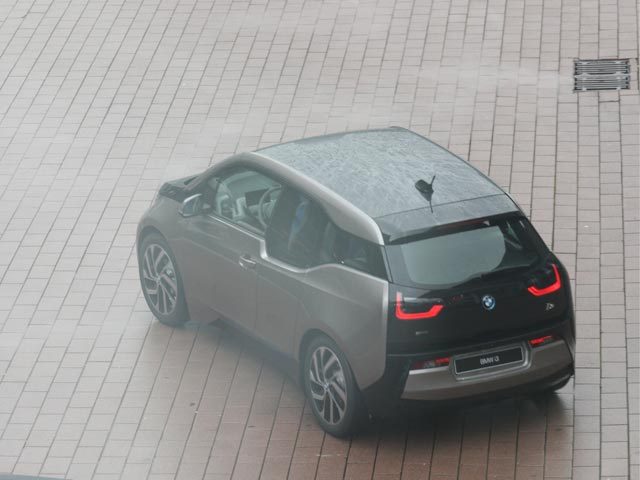 BMW i3 on the road at the Frankfurt Motor Show
