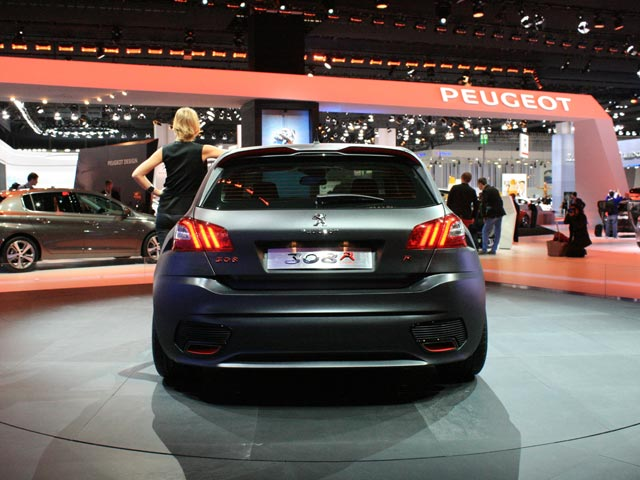 Rear of Peugeot 308R at the Frankfurt Motor Show 2013