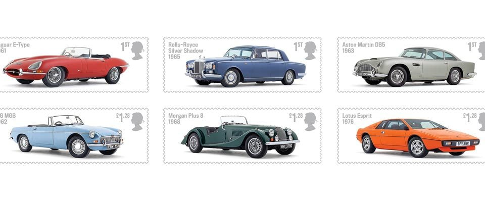 British Auto Legends stamps