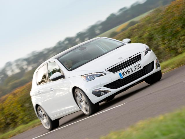 New 2014 Peugeot 308 on the road