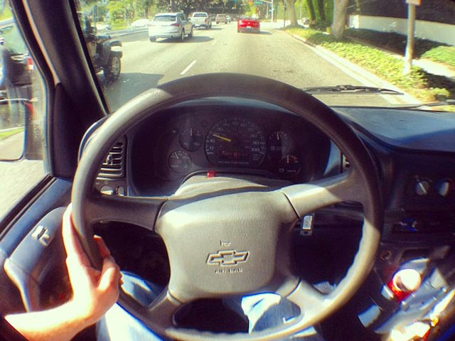 Chevrolet Astro at the wheel