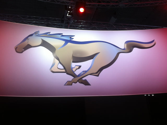 Ford Mustang logo in Barcelona