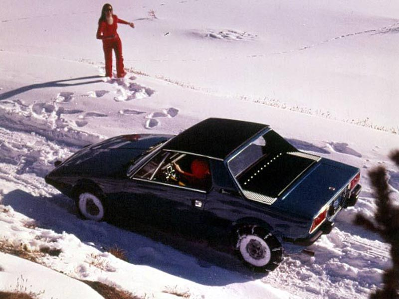 Fiat X1-9 in the snow