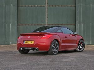 Rear of 2014 Peugeot RCZ R