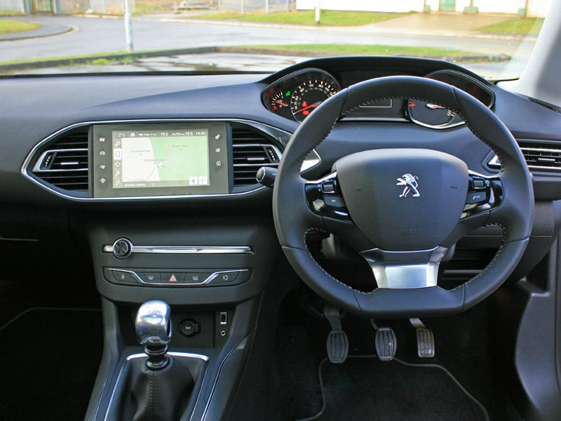 Interior of the Peugeot 308 i-Cockpit