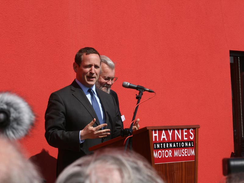 Ed Vaizey MP at Haynes International Motor Museum