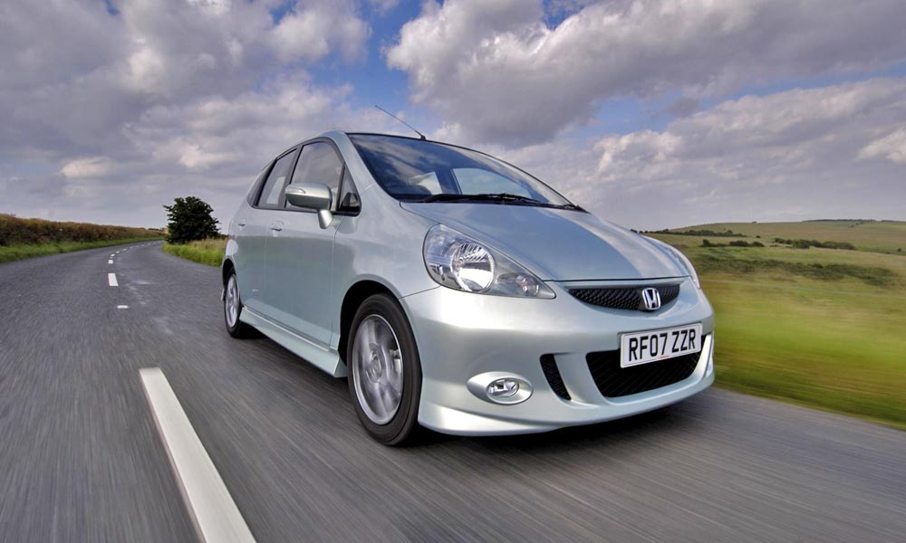 Honda Jazz on a British B-road