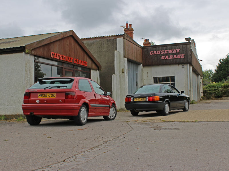 Citroen ZX and Audi 80 at Causeway Garage