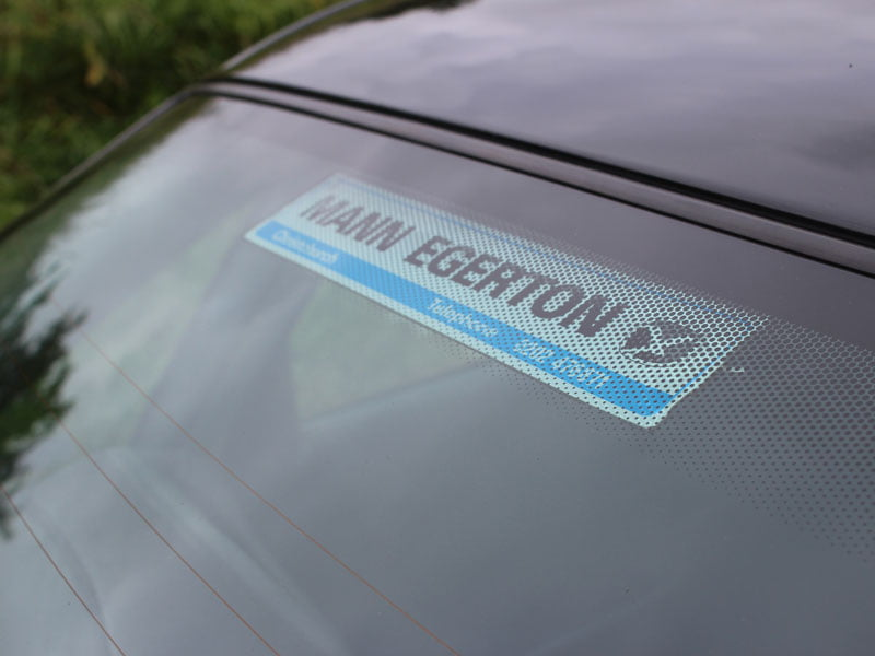 Original Mann Egerton dealer sticker