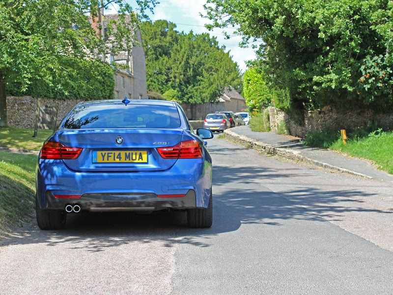 Rear of BMW 4 Series Gran Coupe