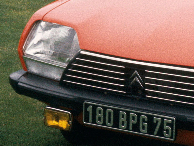 Citroen GS yellow fog light