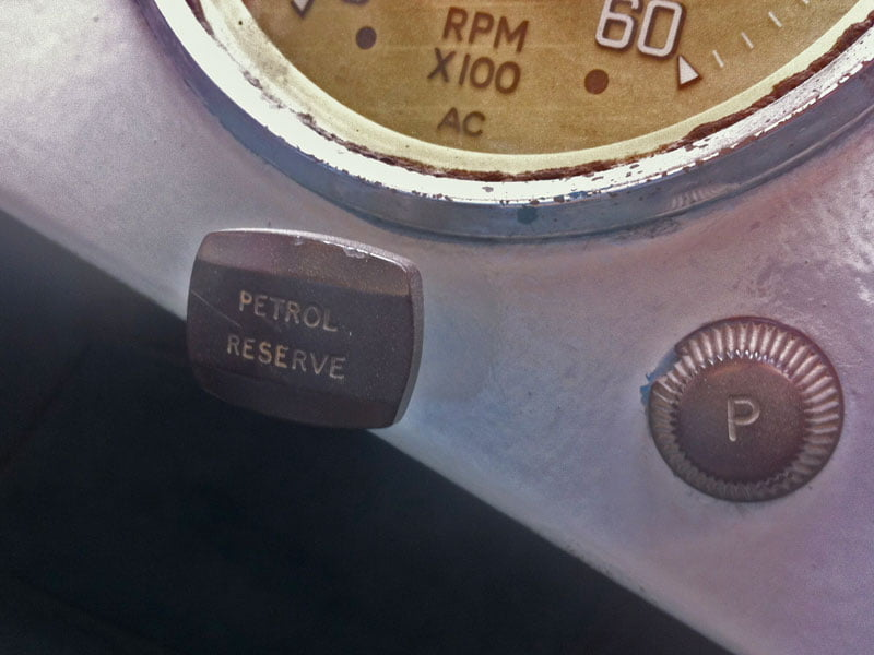 Reserve petrol tank switch