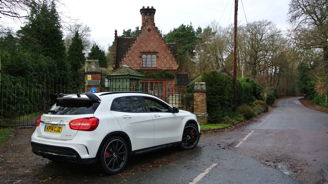 Rear of Mercedes-Benz GLA45 AMG