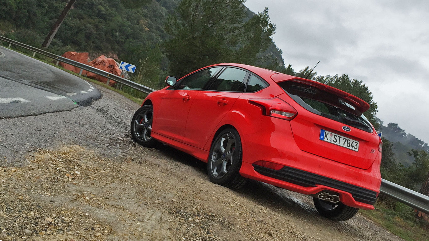 Rear of new Ford Focus ST Diesel