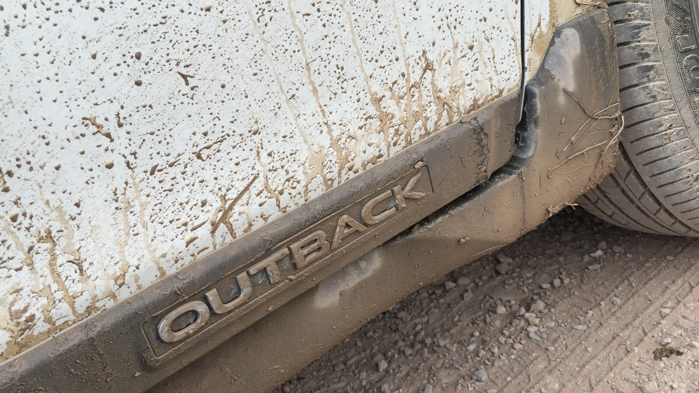 Mud on 2015 Subaru Outback