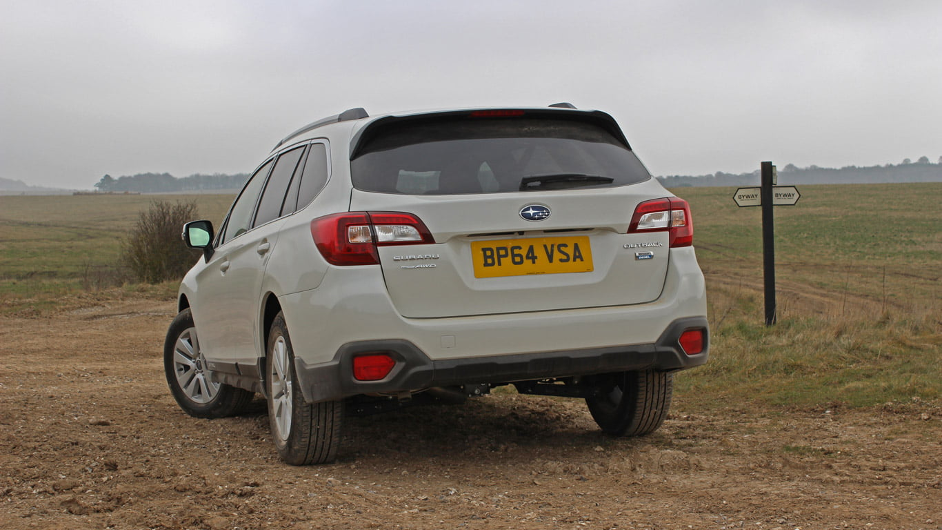 Rear of 2015 Subaru Outback