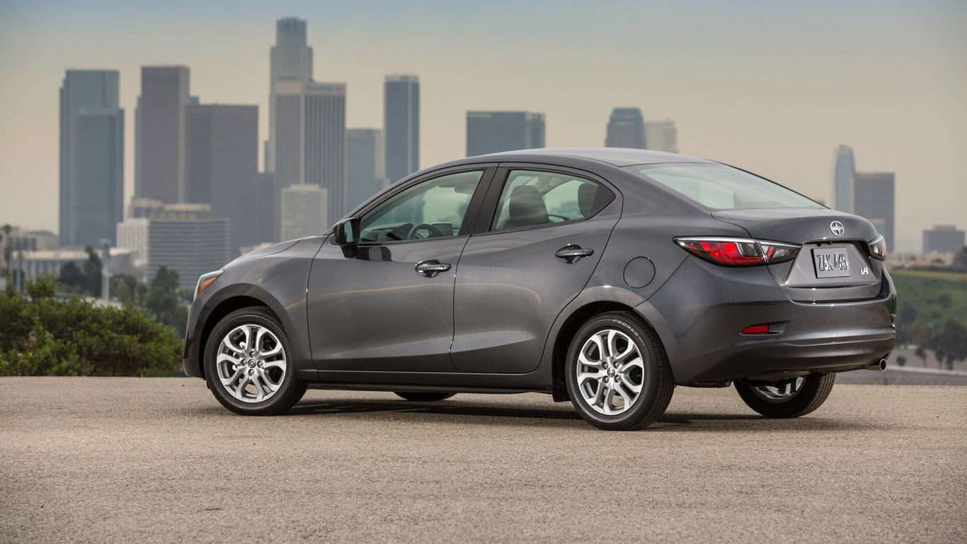 Rear of 2016 Scion iA