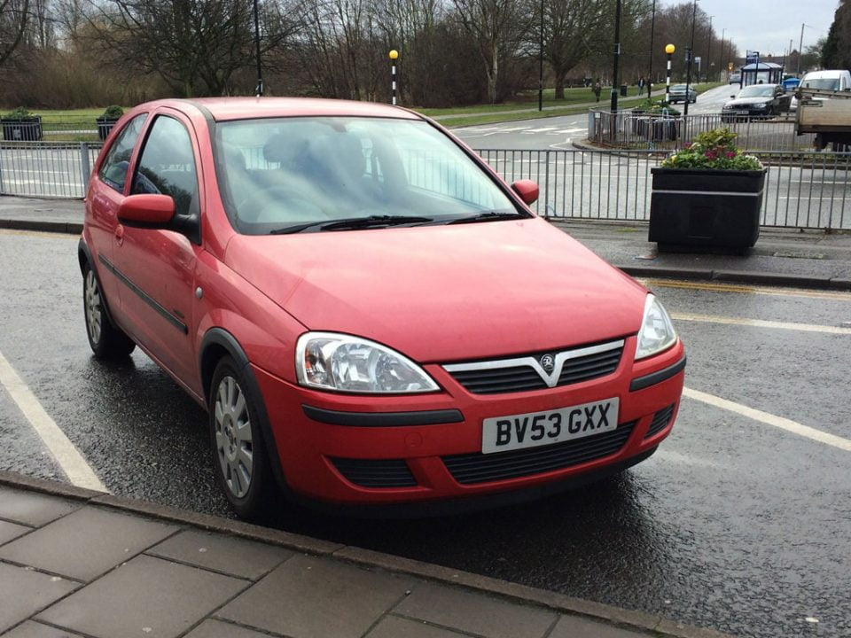 Rob buys a redish Vauxhall Corsa Active