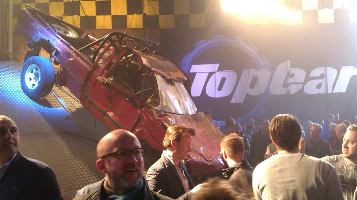 Toyota Hilux on set of Top Gear