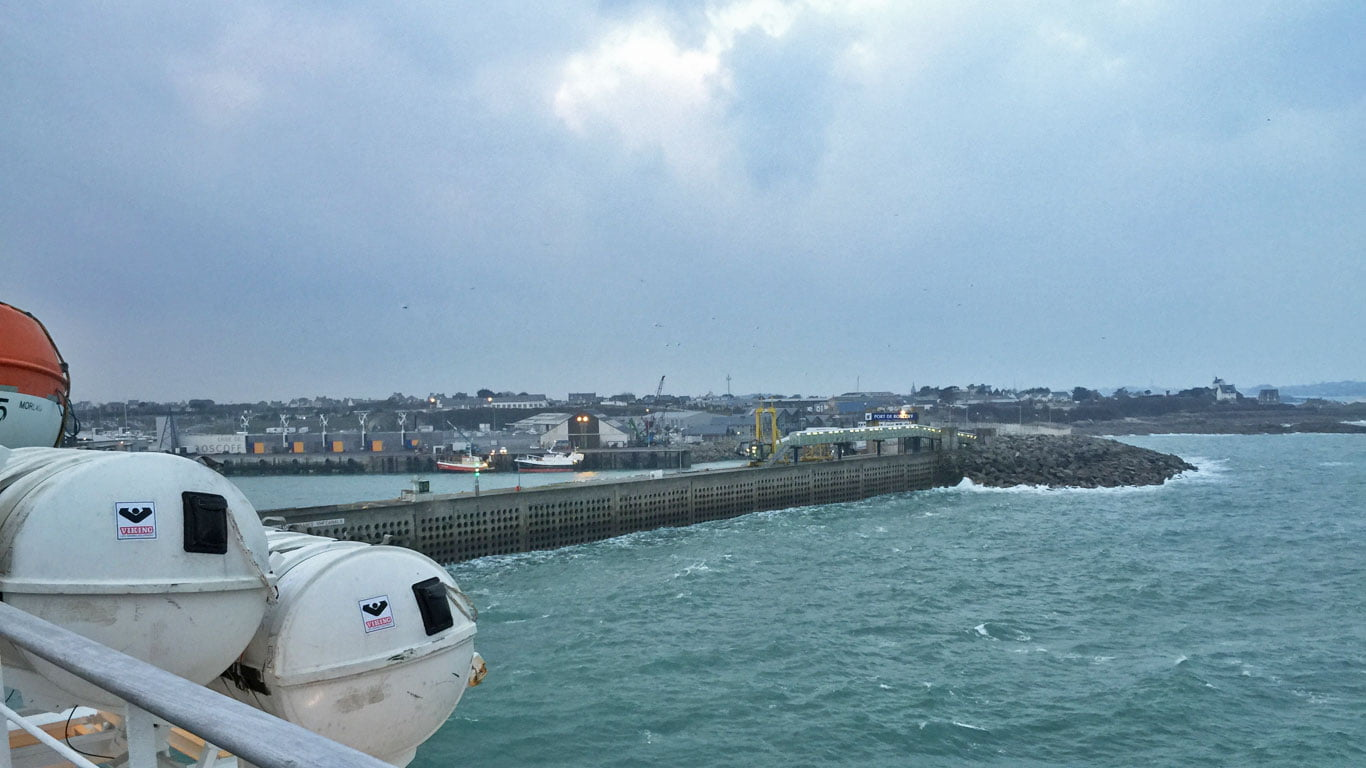 Plymouth to Roscoff arrival