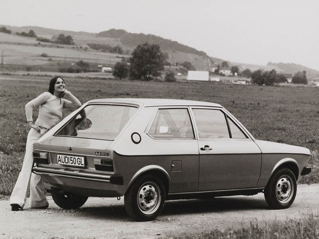 Audi 50 GL and girl